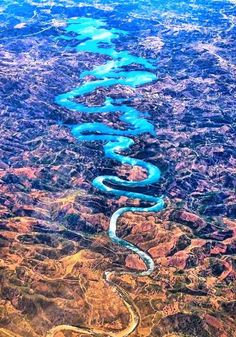 "sixpenceee: "" Odeleite is a river in the municipality of Castro Marim. The river is also known as ""The Blue Dragon River"" because of its dark blue color and curvy shape """