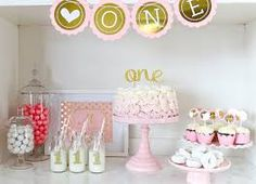 Image result for BABY GIRL 1ST BIRTHDAY WHITE PINK GOLD THEMED