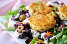 salade crousti-moelleuse de polenta aux olives tramier vegan végétarien sans gluten sans lactose