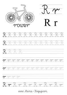 SZABLONY DO NAUKI PISANIA LITER - LITERKI M - Z Letter Activities, Preschool Activities, Tracing Letters, Kids Writing, Preschool Classroom, Math Worksheets, Cursive, Kids Learning, Hand Lettering