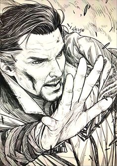 I love all the new Doctor Strange art! I just don't understand why none of them pictures have the scars on his hands. Marvel Art, Marvel Avengers, Captain Marvel, Art Drawings Sketches, Cartoon Drawings, Ara Bleu, Avengers Drawings, Weird Art, Strange Art