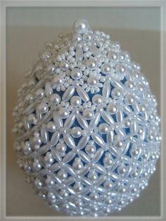 """Яйцо """"Жемчужное очарование"""".   biser.info - всё о бисере и бисерном творчестве"""