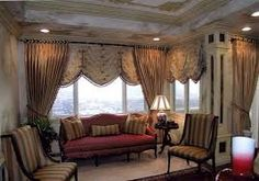 Image result for curtain styles for bay windows