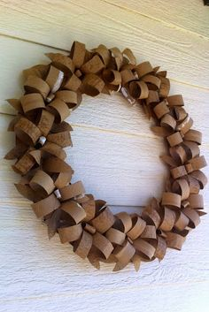 DIY 12 Paper WreathsDonate Used Books!DIY Egg carton wreath
