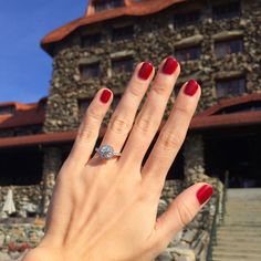 Real engagement ring selfies from new brides. These are gorgeous!