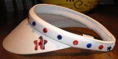 Crafty Texas Visor - White, Sideview