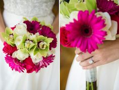 Preppy Pink and Green Bouquet