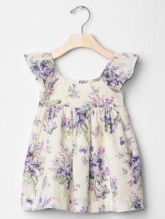 Floral butterfly flutter dress