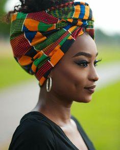 2019 Lovely Ankara Headwrap styles Beauty From West Africa - Nigerian African Beauty, African Women, Maquillage Black, Mode Turban, Hair Wrap Scarf, Pelo Afro, African Head Wraps, African Fashion Ankara, Turban Style