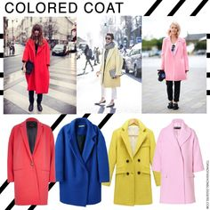 colored coat cappotti colorati
