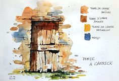 Sketches, travel diaries and watercolor, Online sketching workshop, Sketching, tr . Watercolor Architecture, Watercolor Landscape, Watercolor And Ink, Watercolor Paintings, Watercolours, Water Architecture, Watercolor Sketchbook, Art Sketchbook, Watercolor Illustration