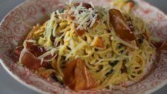 Spaghetti  met corgette tomaat coburgerham