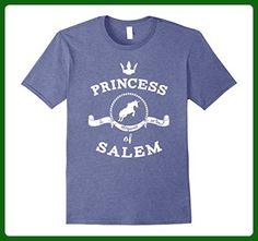 Mens Princess of Salem T-Shirt With Unicorn For Girl Women 2XL Heather Blue - Fantasy sci fi shirts (*Amazon Partner-Link)