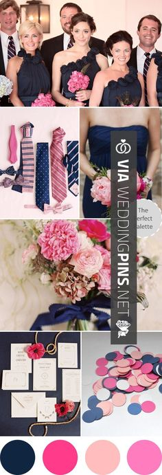 Fantastic - Wedding Colour Schemes 2017 - I dont much want blue but Sophak does. I would prefer to have some pink. So maybe navy blue   silver for guys, pink   silver for girls to tie it all together? ------------- Wedding Colors I Love | Navy Blue   Shades of Pink! http://www.theperfectpal... | CHECK OUT THESE OTHER SWEET SHOTS OF NEW Wedding Colour Schemes 2017 HERE AT WEDDINGPINS.NET | #weddingcolourschemes2017 #weddingcolorschemes2017 #weddingcolours #weddingcolors #weddi