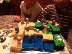 Check out Asa's Mine Craft Birthday Cake!