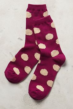 happy little burgundy polka dot socks #anthrofave http://rstyle.me/n/t9je5r9te