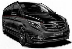 Mercedes V Class Black Crystal will be revealed at the Geneva Motor Show. Its interior is inspired from a private jet. Mercedes Benz Vans, Mercedes Van, Mercedes W124, Bmw, Auto Motor Sport, Der Bus, Limousine, Top Cars, Private Jet