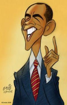 [ Barack Obama ] - artist: Pete Emslie - website: http://cartooncave.blogspot.com/