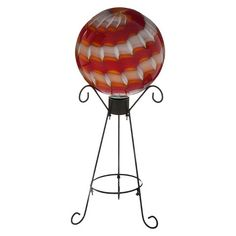 Glass Gazing Ball - Red $39.99  Enchanting glass gazing ball that fits perfectly into any outdoor décor design plans. A durable finish protects the globe so it is can withstand the elements and last for seasons to come.Gazing Ball Stand Not Included
