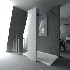 Monolite; radiator en douche ineen