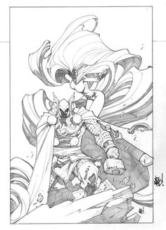 Inhuman #4 Variant Cover (Sketch) by Joe Madureira