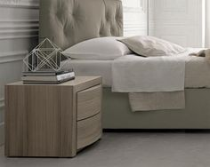 Contemporary Colombini Vitalyty Romance 2 Drawer Bedside Cabinet