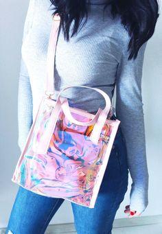 Τσάντα Holografic Candy - BLUSHGREECE Bags, Totes, Art Sketches, Handbags, Bag, Hand Bags