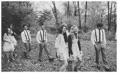 Woodland Barn Wedding- casual photos of guests