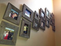Barn wood picture frames could be really cool--especially for that blue whale