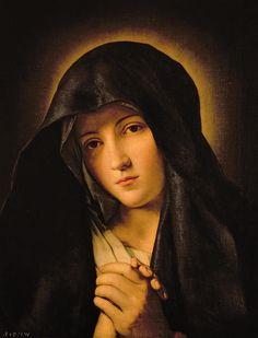 Madonna by Il Sassoferrato.