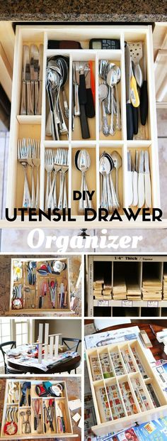 Organización de cocina, Cajón de utensilios   -   Check out the tutorial: DIY Kiychen Utensil- Drawer Organizer @istandarddesign