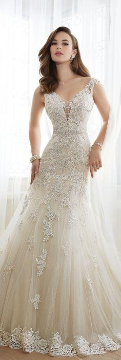 The Sophia Tolli Spring 2016 Wedding Dress Collection - Style No. Y11643 - Daria #laceweddingdresses