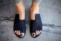 NEW Black Leather Sandals Handmade Sandals Flat Sandals