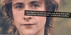 elf-star:  lotrconfessions:  I love Pippin's arc; how the naive, cute, funny little hobbit matured into a brave warrior - in both books and films.  Yup yup.