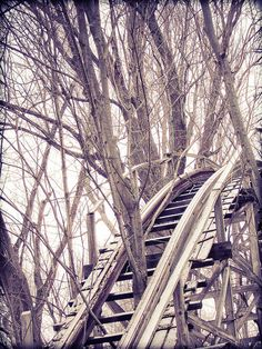 Abandoned roller coaster at Chippewa Lake Park - Medina, Ohio - It was in operation for 100 years – from 1878 to 1978