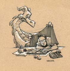 Brian The Overworked - A month of wrangling dragons can be quite exhausting.