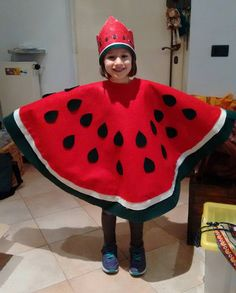 Costume anguria. Regina delle angurie. Watermelon costume. Queen of Watermelons;