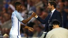 Marcus Rashford: Gareth Southgate says hat-trick 'food for thought' for Sam Allardyce - BBC Sport