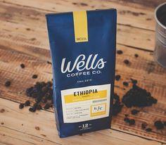 Wells Coffee Packaging Design