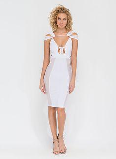 Sheer Brilliance Cut-Out Mesh Dress