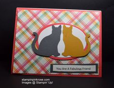 Stampin' Up! Thinking of You card made with Cat Punch and designed by Demo Pamela Sadler. Let the pnches do the work. See more cards at stampinkrose.com and etsycardstrulyheart