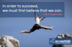 #FridayQuote #MotivationalQuote In order to success, we must first believe that we can