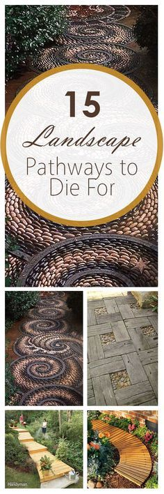 15 DIY Landscape Pathways to Die For ~ Bees and Roses Gardening, home garden, garden hacks, garden t Outdoor Projects, Garden Projects, Diy Projects, Gardening For Beginners, Gardening Tips, Garden Paths, Garden Landscaping, Garden Fun, Landscaping Design