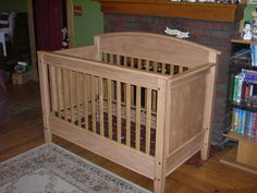 woodworking crib plans | Oak Crib