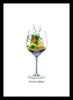 Quadro Poster Vinhos e Sabores Gruner Veltliner
