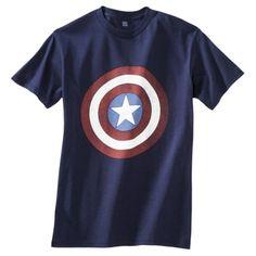 Marvel Captain America Shield Men's Tee - Navy.Opens in a new window