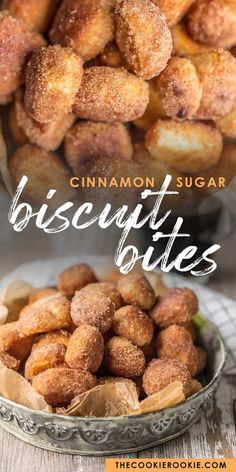 CINNAMON BITES are the perfect breakfast, dessert, or snack for any time of day! These crispy Cinnamon Sugar Biscuit Bites are easy, delicious, and so fun. Making a sweet breakfast treat just doesn't get simpler than these tasty cinnamon biscuit bites! Sweet Breakfast, Perfect Breakfast, Breakfast Dessert, Appetizer Dessert, Pilsbury Biscuit Recipes, Biscuit Dessert Recipe, Easy Biscuit Recipe, Cinnamon Biscuits, Cinnamon Sugar Bread