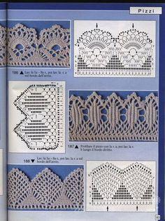 Häkeln Spitze Borte - crochet edging