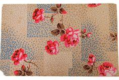 Vintage Handpainted Wallpaper, Paris