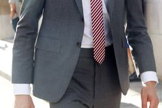 Come on Justin, just ONE skinny tie in a super conservative print?!  STREETFSN